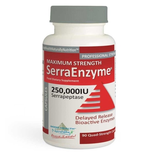 Serra Enzyme™ 250,000IU Maximum Strength - 90 Capsules